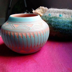 Vintage Navajo Pot by Susie Charlie